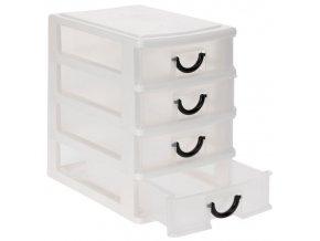 Skříňka na drobnosti, organizér - 4xzásuvka