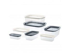 Nádoba na přechovávání potravin - 7 ks  různých velikostí EH Excellent Houseware