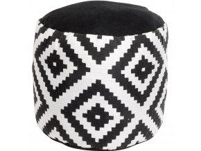 Bavlněné sedátko BLACK WHITE, 45 x 30 cm