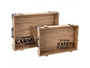Dřevěný podnos snídaňový - 2 kusy v kompletu