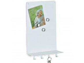 Magnetická poznámková tabule MEMO + 4 věšáčky na klíče, ZELLER