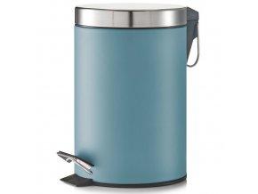 Koupelnový koš, odpadkový koš - 3 l, modrá barva, mat, ZELLER