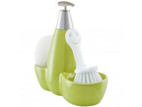 Kuchyňská sada  pro doplňky na mytí nádobí, 3v1, zelená barva, ZELLER