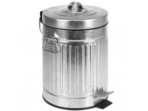Kovový koš na odpadky, kontejner - 3 l