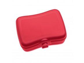 Krabička na svačinu  BASIC, svačinovka - malinová barva, KOZIOL