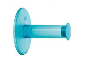 Držák na toaletní papír  PLUG´N ROLL - modrá barva, KOZIOL