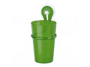 Kelímek do koupelny  LOOP s rukojetí - barva zelená, KOZIOL