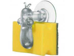 Držák na kuchyňské houbičky NORBERT - barva transparentní, KOZIOL