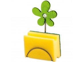 Držák na kuchyňské houbičky A-PRIL - barva zelená, KOZIOL