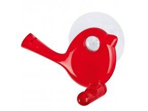 Věšák na ručníky  s přísavkou [pi:p] - barva červená, KOZIOL
