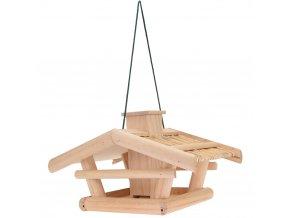 Krmítko pro ptáky - dřevěná budka