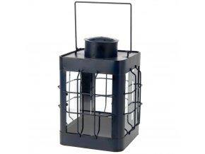 Kovová lucerna - modro-černá barva