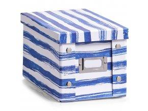 Organizér BLUE STRIPES, 17x28x15 cm, ZELLER