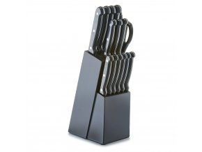 Dřevěný stojan na nože, blok s noži, 16 ks v sadě, ZELLER