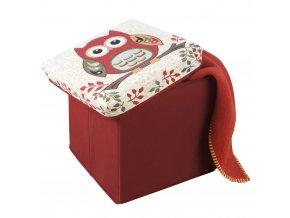Taburet pro děti OWL, kontejner na hračky, WENKO
