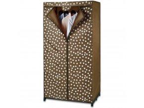 Šatník textilní PREETY WOMAN, skládací šatní skříň, 150x75x50cm, WENKO