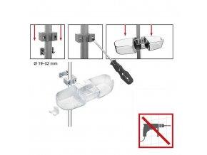 Koupelnová police do sprchového koutu CADDY Premium, WENKO