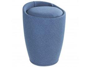Taburet CANDY BLUE - koš na prádlo, 2 v 1, WENKO