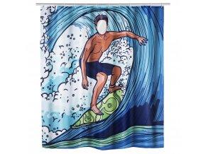 Sprchový závěs Surfing Boy, textilní, 180x200 cm, WENKO