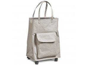 Taška na prádlo, nákupy, béžová barva, 40 x 33 x 60 cm, ZELLER