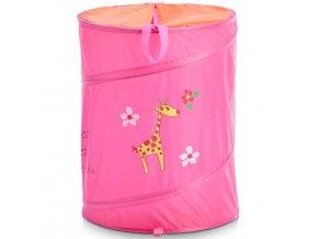 Taška na špinavé prádlo, hračky dětský motiv  - barva růžová, ZELLER
