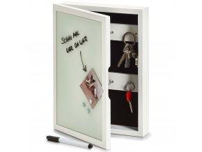 Skříňka na klíče, magnetická tabule, 22x5x30 cm, ZELLER