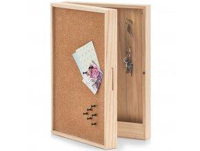 Skříň na klíče, korková tabule, 30x8x42 cm, ZELLER