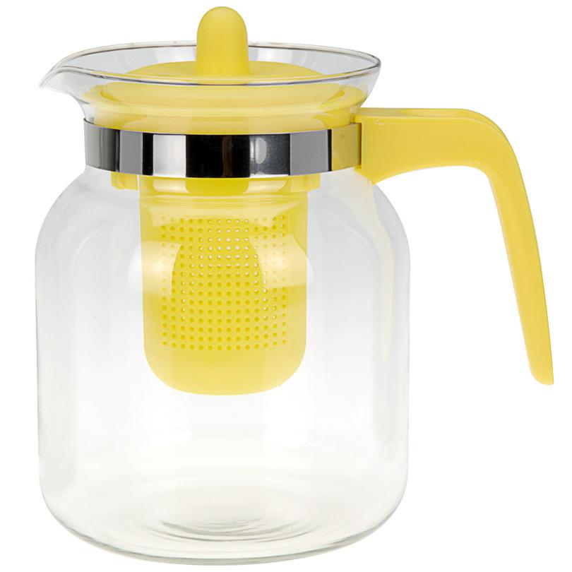 Čajová konvice CONFETTI, 1500 ml - barva žlutá EH Excellent Houseware
