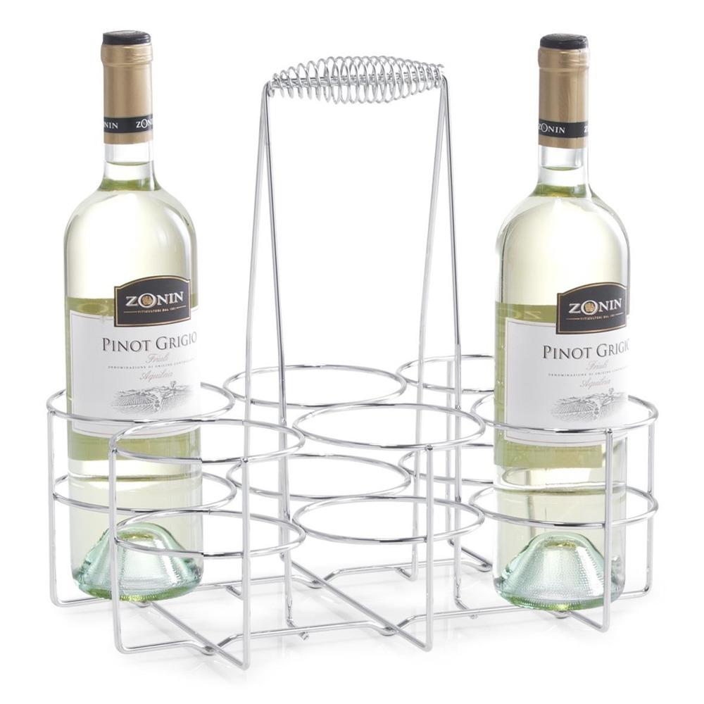 Kovový stojan na víno - 6 lahví , ZELLER