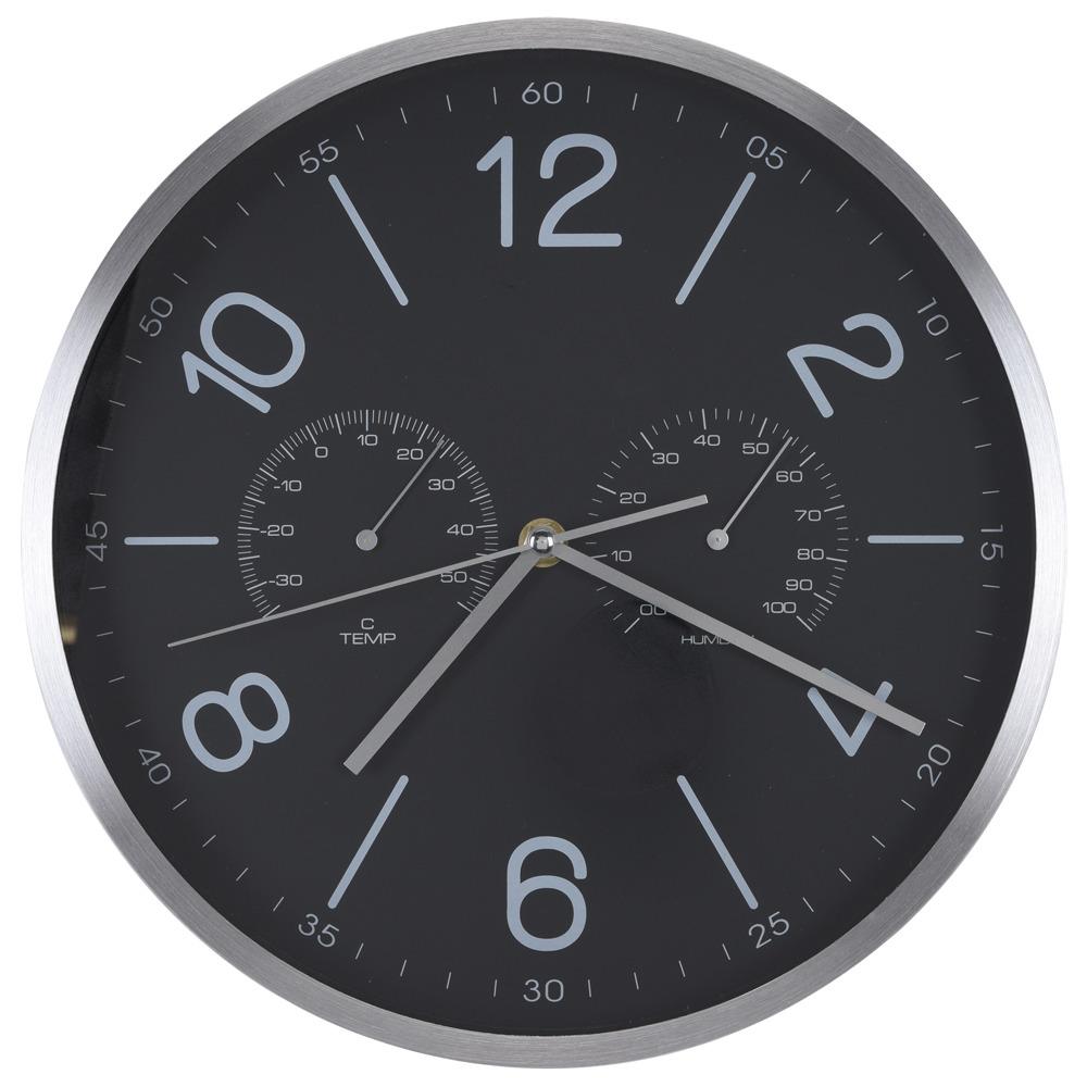 Nástěnné hodiny s teploměrem a vlhkoměrem, Ø 30 cm Segnale