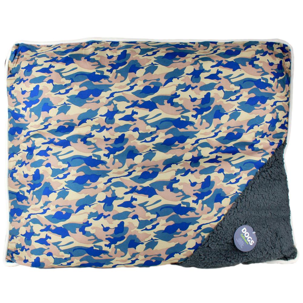 Pelíšek pro psy, kočky - polštářek, barva modrá Emako