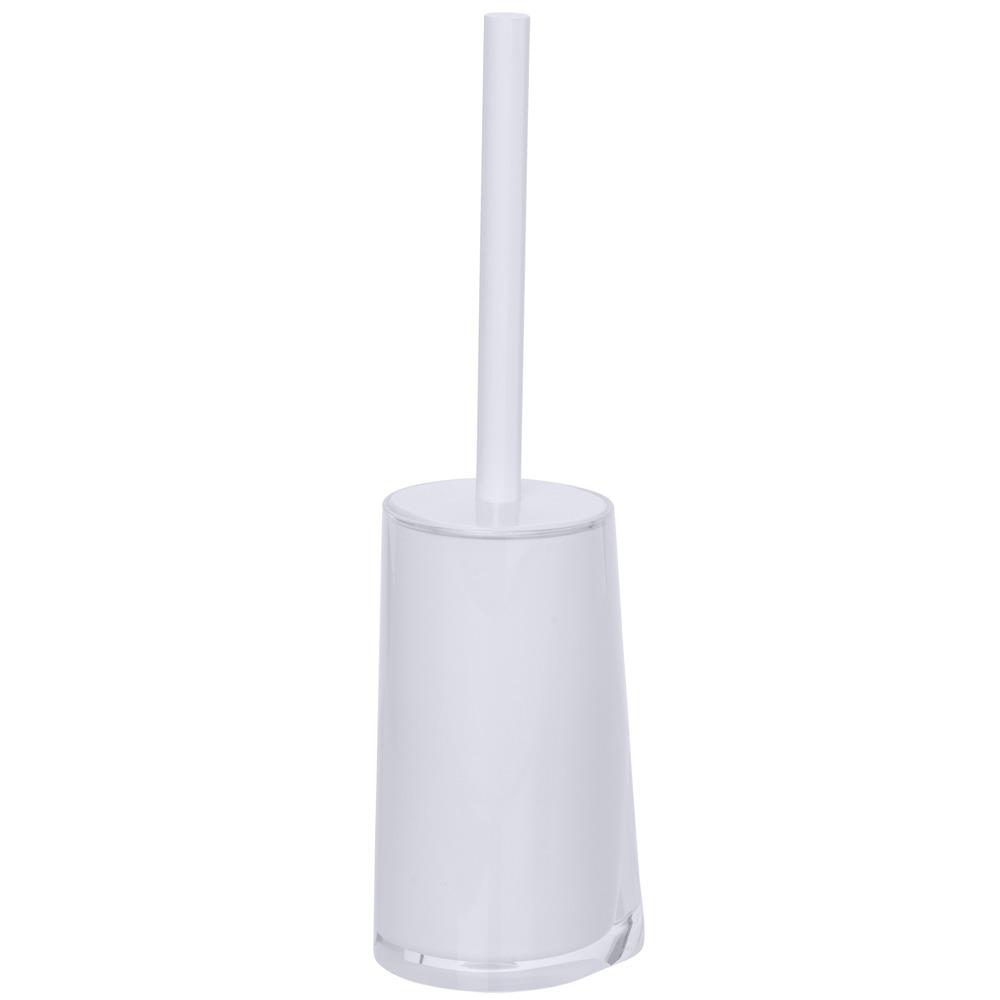 Nádoba na WC PARADISE WHITE + štětka WC, WENKO