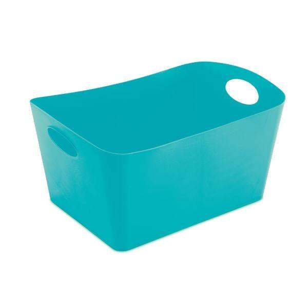 Škopek do koupelny BOXXX, kontejner, velikost L - barva tyrkysová, KOZIOL