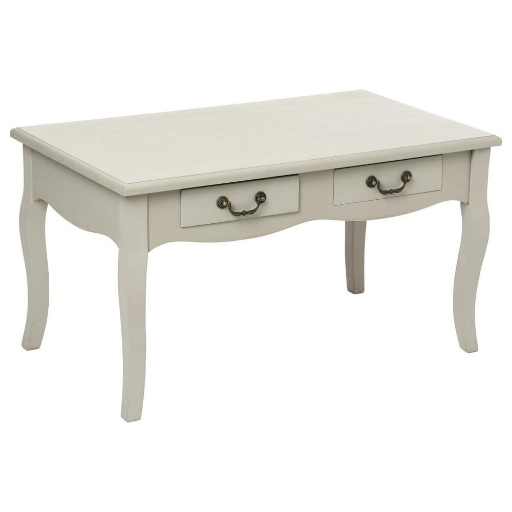 Dřevěný stůl, toaletní stolek, CHRYSA, se dvěma zásuvkami, příležitostný stolek, 48x80x44 cm Emako