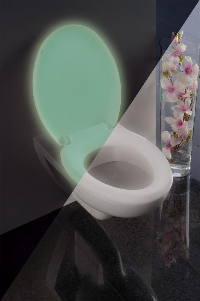 Svítící WC prkénko GLOW - Termoplast, bílé, WENKO
