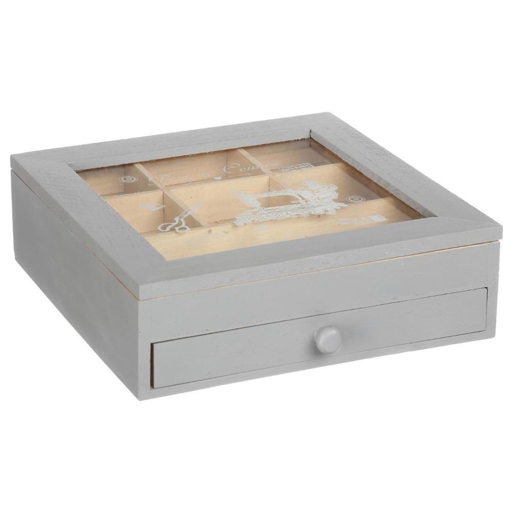 Atmosphera Créateur d'intérieur Skříňka, kazeta, box na bižuterie, dřevěná krabice, organiz