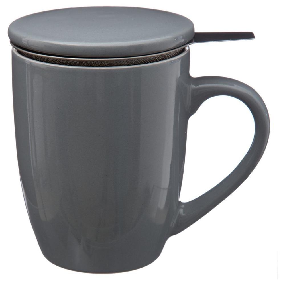 Secret de Gourmet Hrnek na čaj, konvice na čaj, čajová konvice, skleněný džbán, džbán na čaj 320 ml, šedá barva