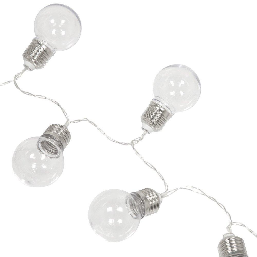 Emako Girlanda z deseti LED žárovek z průhledné umělé hmoty