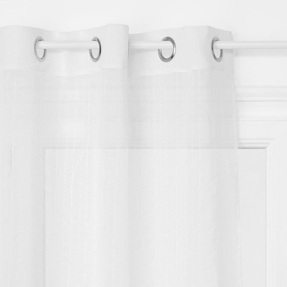 Emako Záclony bílé barvy o rozměrech 140 x 240 cm vyrobené z polyesteru jsou perfektní ozdobou každé místnosti