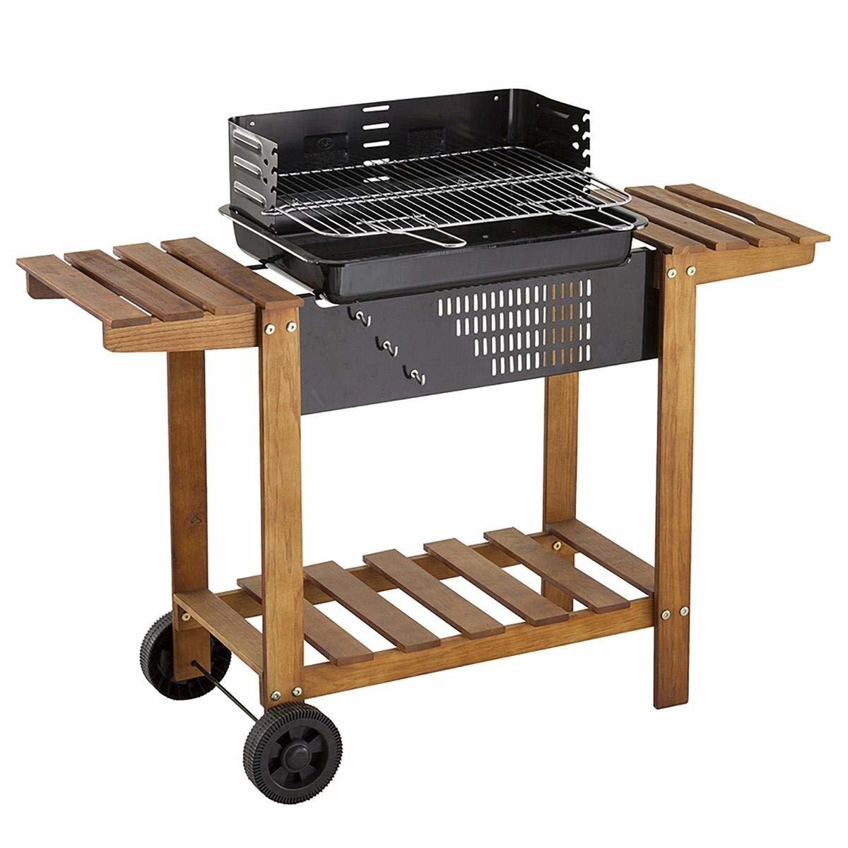 Neka Gril zahradní s roštem z nerezové oceli, AZUR, mobilní stolek BBQ