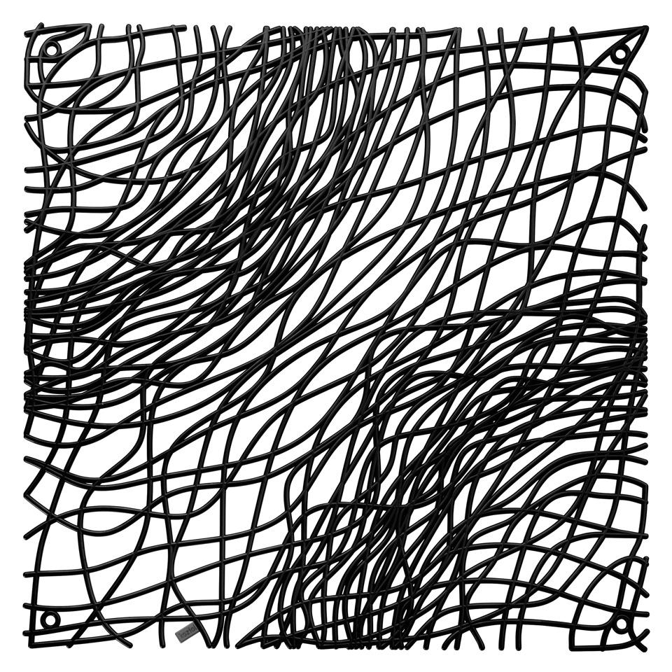 Dekorace na zeď SILK, 4 ks - barva černá, KOZIOL