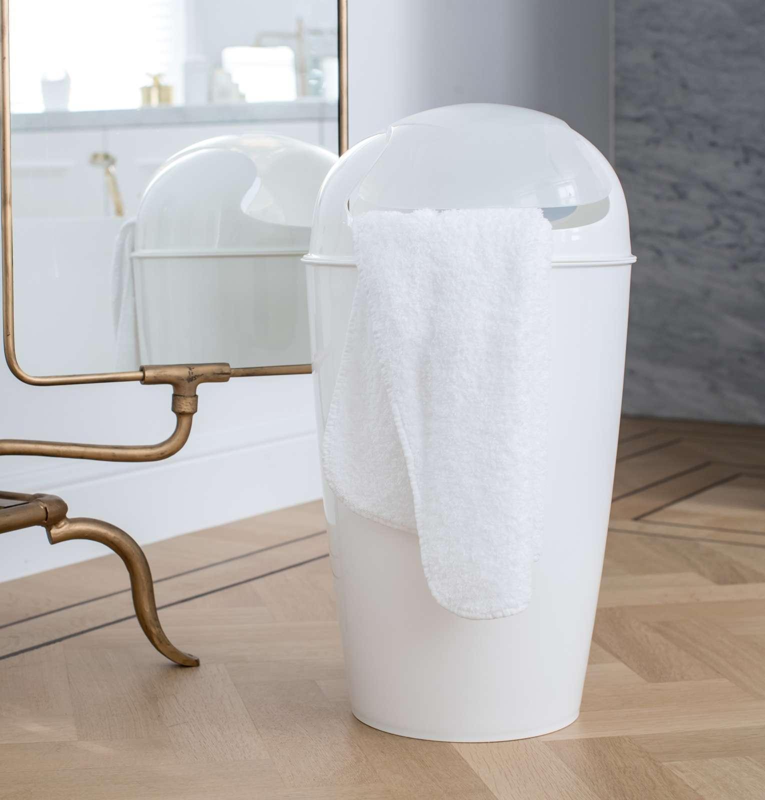 Kancelářský odpadkový koš DEL XL, 30 l - barva bílá, KOZIOL