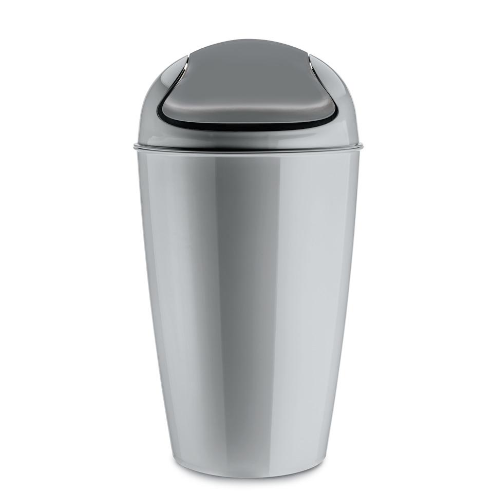 Kancelářský odpadkový koš DEL XL, 30 l - barva šedá, KOZIOL
