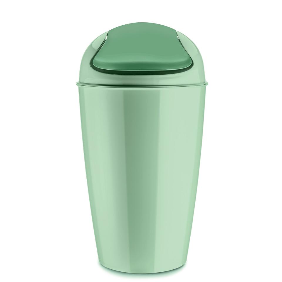 Kancelářský odpadkový koš DEL XL, 30 l - barva mentolová, KOZIOL