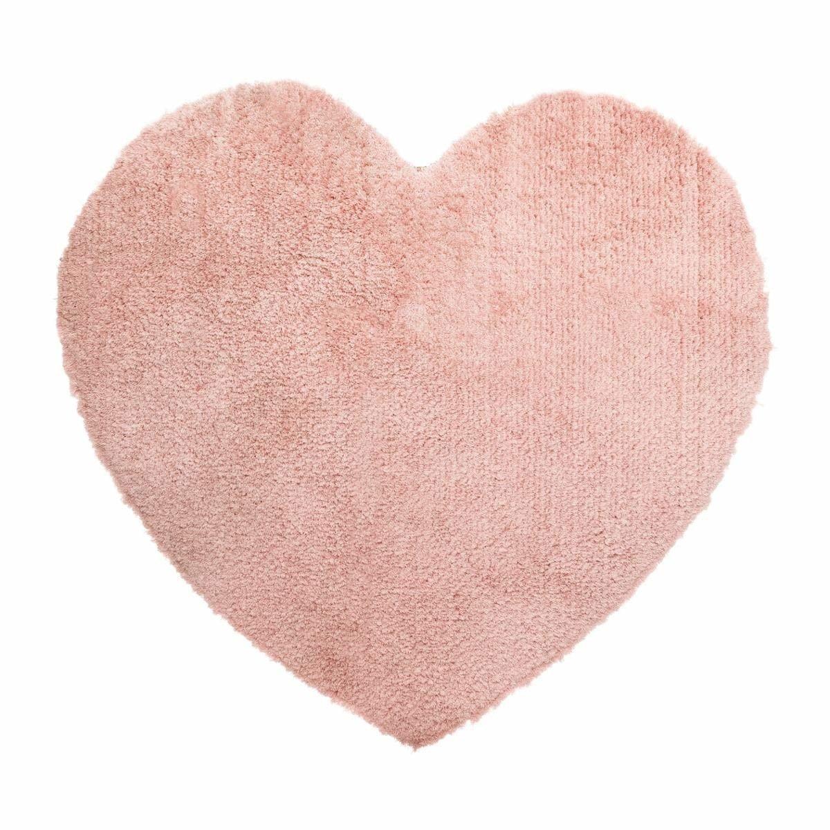 Atmosphera Dekorativní polštář se srdcem, 80 x 74 cm, růžový