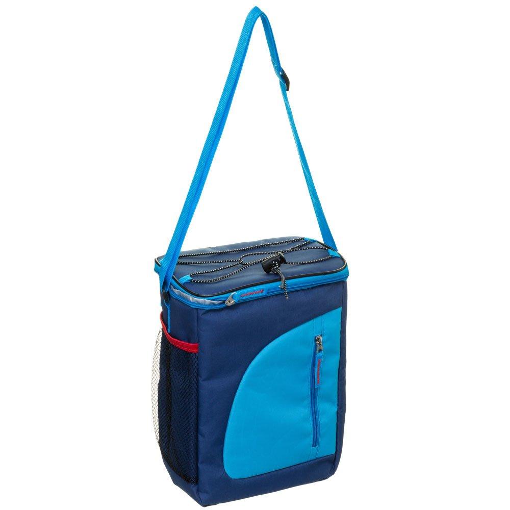 Tepelná taška s ramenním popruhem a kapsami, barva tmavě modrá, INTEX