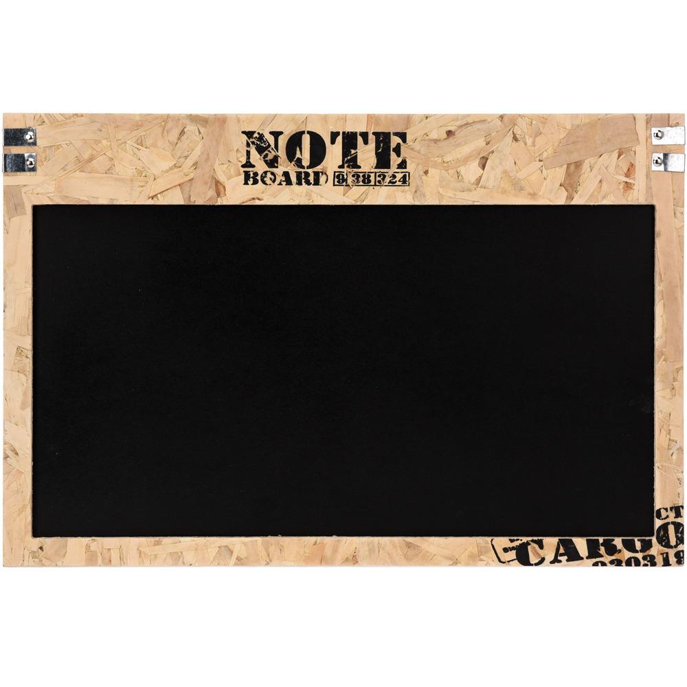 Dřevěná poznámková tabule, černá, 60x40 cm Emako