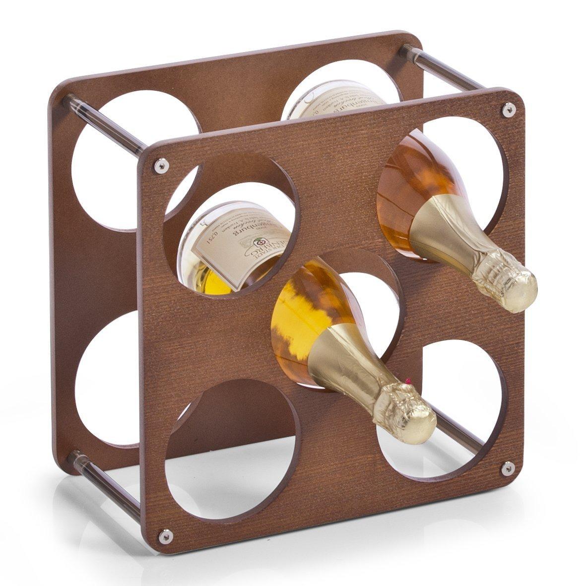Stojan na víno, alkohol, láhve - 5 lahví 1 L ZELLER