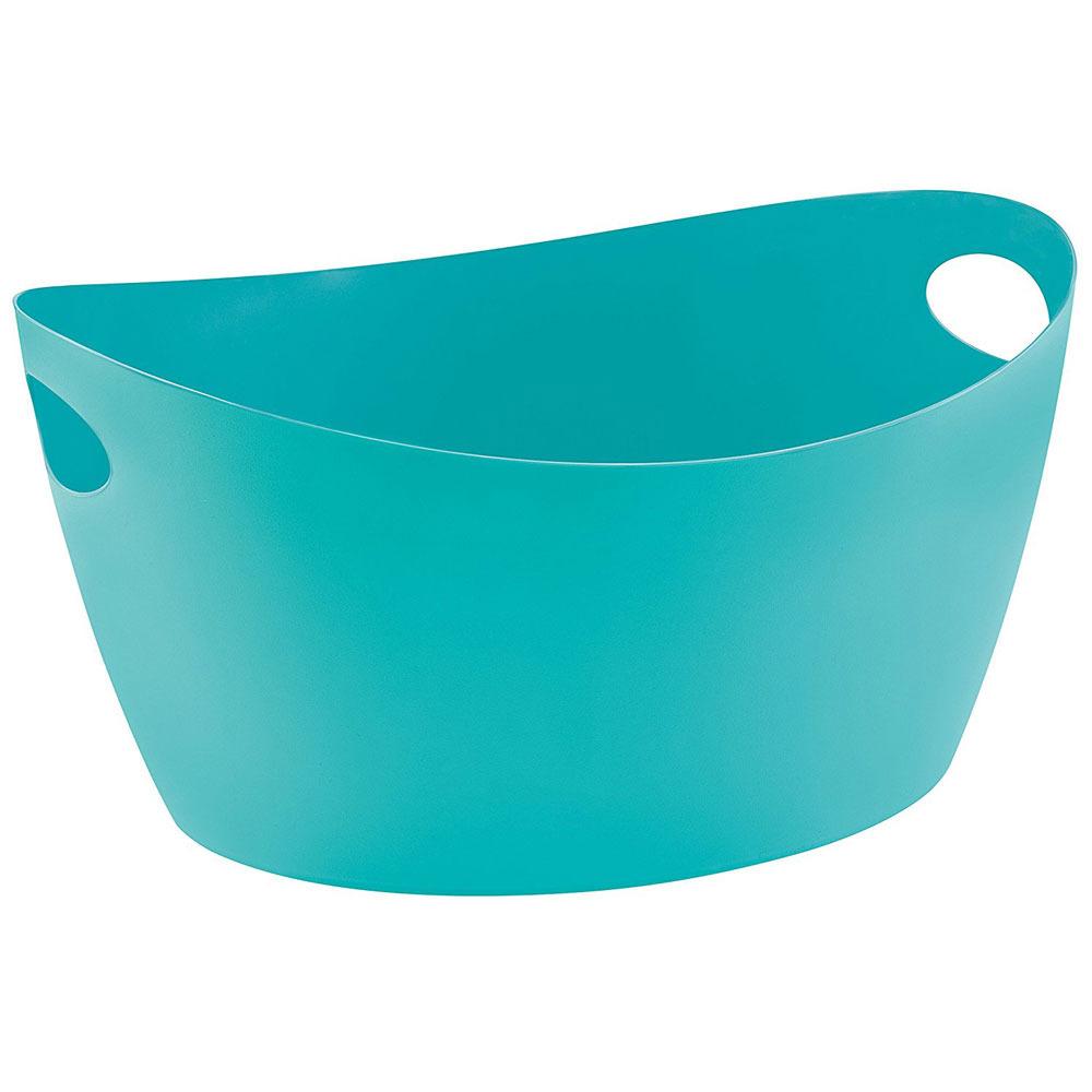 Škopek do koupelny BOTTICHELLI, velikost L - barva tyrkysová, KOZIOL