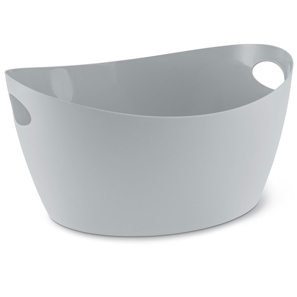 Škopek do koupelny BOTTICHELLI, velikost L - šedá barva, KOZIOL